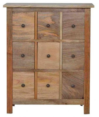 Mango Wood 9 Drawer Chest Of Drawers
